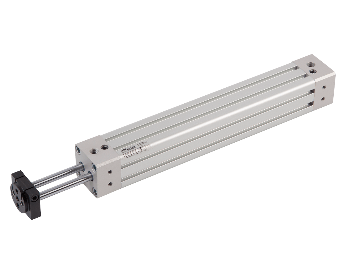 image showing a pneumatic cylinder with twin rods