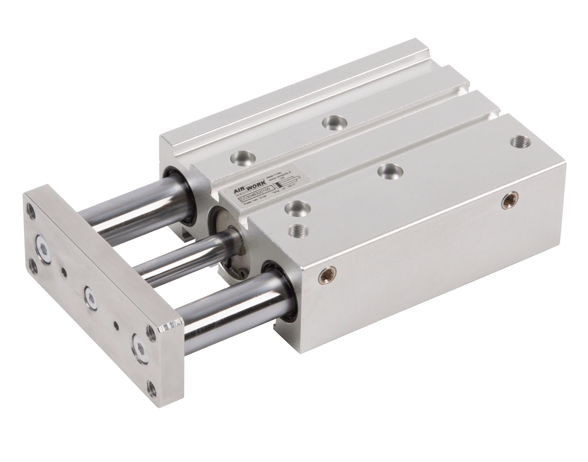 image showing a pneumatic compact guide cylinder