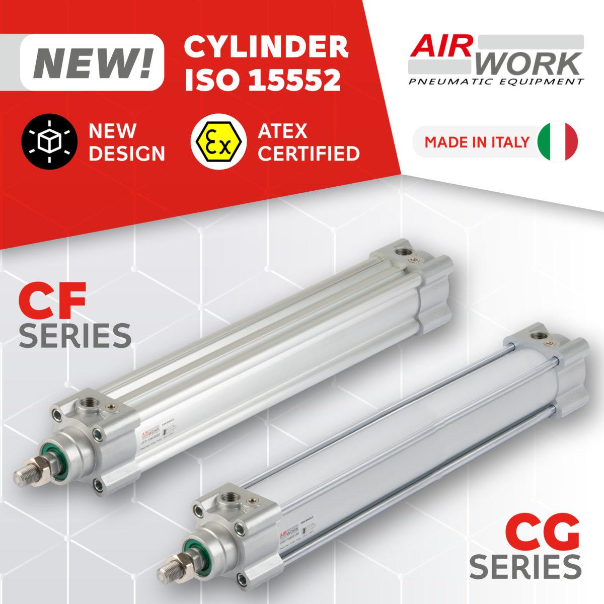 CF CG Pneumatic Cylinders ISO 15552 Airwork